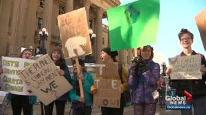Edmonton students skip school to demand action on climate